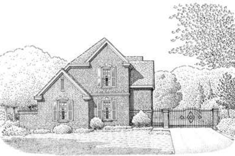 European Exterior - Front Elevation Plan #410-394 - Houseplans.com