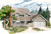 Traditional Style House Plan - 4 Beds 2.5 Baths 2137 Sq/Ft Plan #47-431 Exterior - Front Elevation