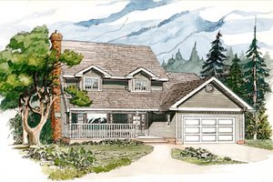 Traditional Exterior - Front Elevation Plan #47-431