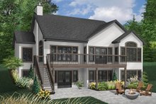 House Design - Traditional Exterior - Rear Elevation Plan #23-850