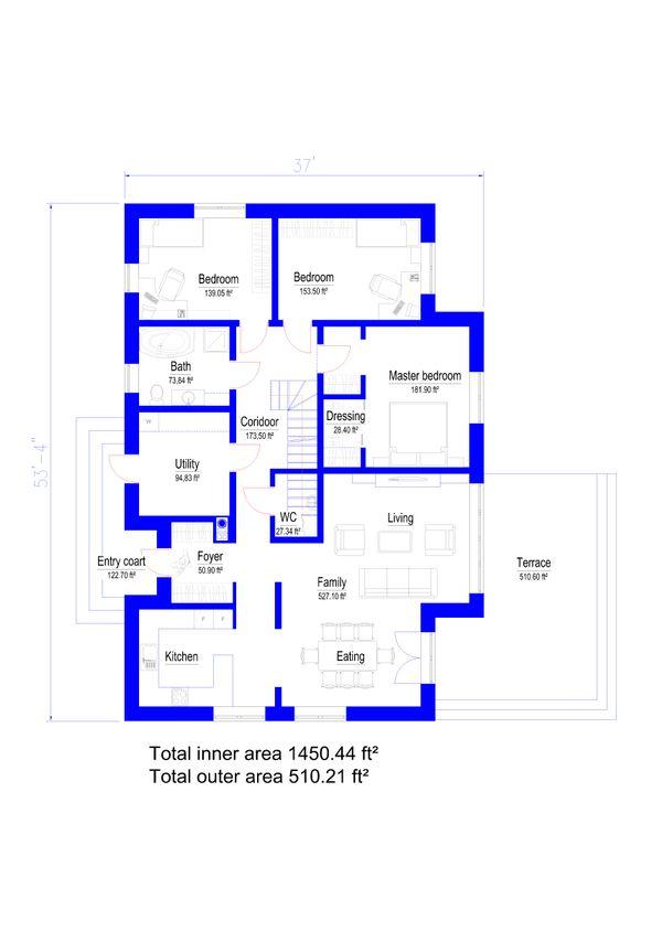 Modern Floor Plan - Main Floor Plan Plan #549-26