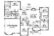 Farmhouse Floor Plan - Main Floor Plan Plan #126-187