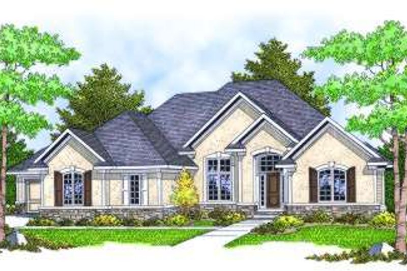 Architectural House Design - European Exterior - Front Elevation Plan #70-809