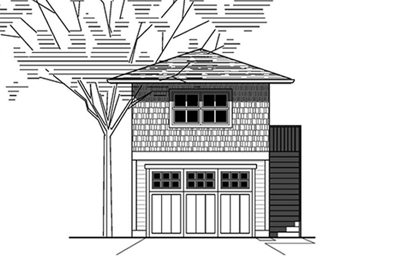 Prairie Style House Plan - 0 Beds 0.5 Baths 384 Sq/Ft Plan #423-54 Exterior - Front Elevation