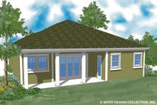 Architectural House Design - Ranch Exterior - Rear Elevation Plan #930-484