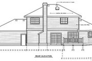 Traditional Style House Plan - 3 Beds 3 Baths 1922 Sq/Ft Plan #92-205 Exterior - Rear Elevation