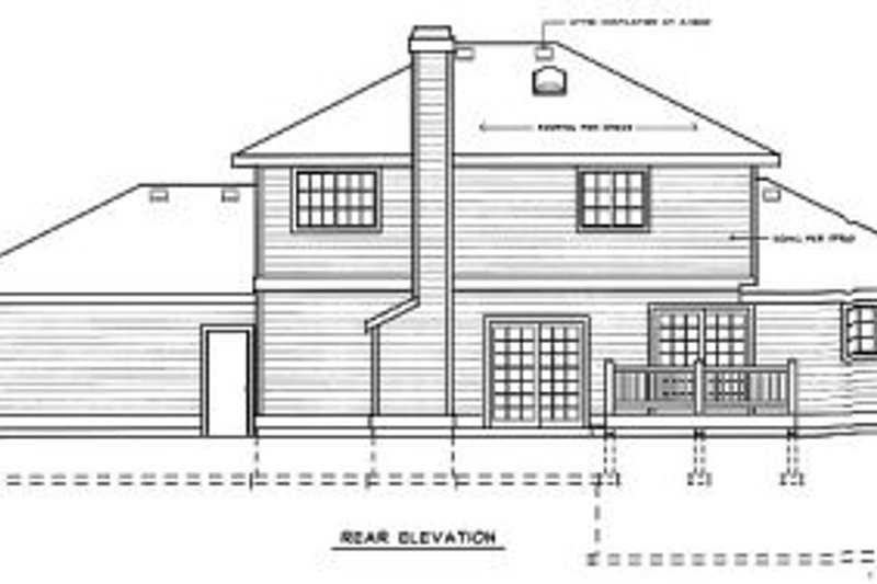Traditional Exterior - Rear Elevation Plan #92-205 - Houseplans.com