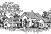 European Style House Plan - 4 Beds 4.5 Baths 3600 Sq/Ft Plan #70-532 Exterior - Front Elevation