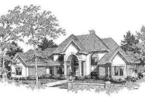 European Exterior - Front Elevation Plan #70-532