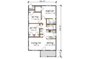 Bungalow Style House Plan - 3 Beds 2 Baths 1092 Sq/Ft Plan #79-116 Floor Plan - Main Floor Plan