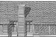 Traditional Style House Plan - 3 Beds 2.5 Baths 2196 Sq/Ft Plan #70-331 Exterior - Rear Elevation