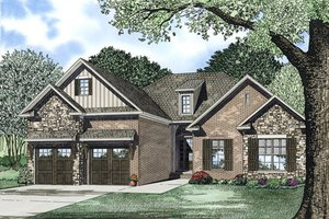 Traditional Exterior - Front Elevation Plan #17-2394