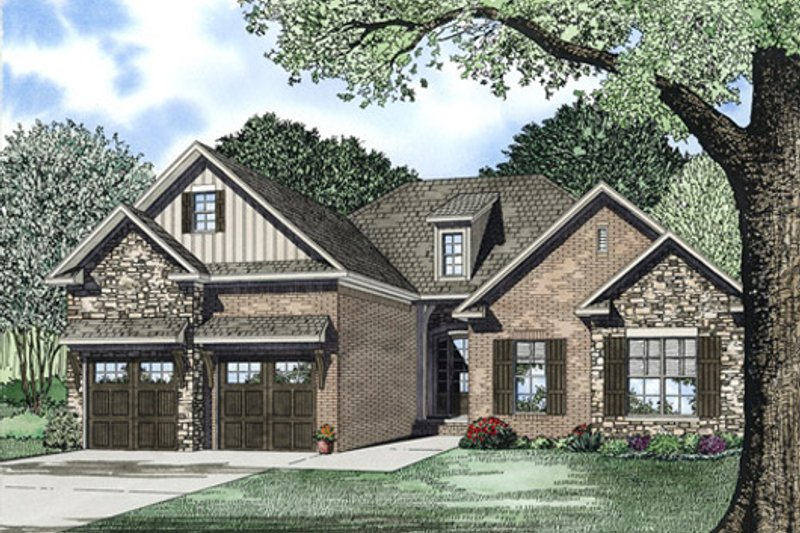 Dream House Plan - Traditional Exterior - Front Elevation Plan #17-2394