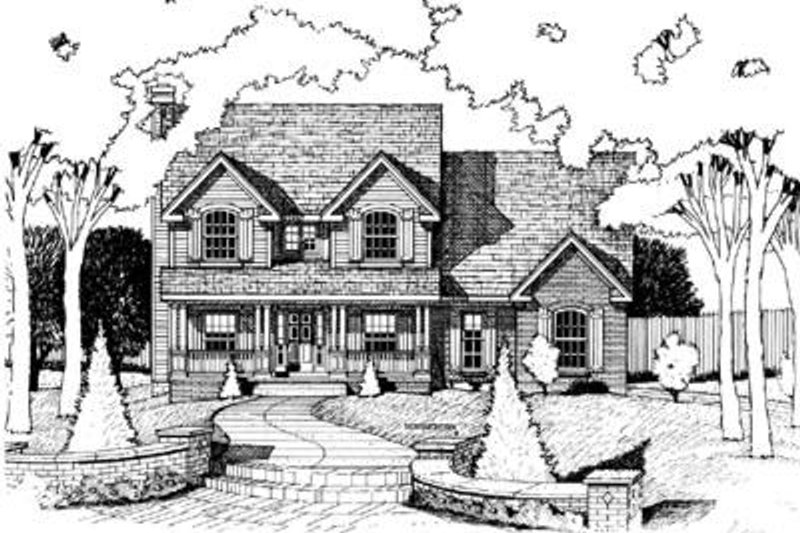 Traditional Exterior - Front Elevation Plan #20-777
