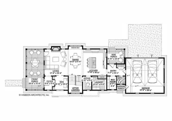 Home Plan - Farmhouse Floor Plan - Main Floor Plan #928-323