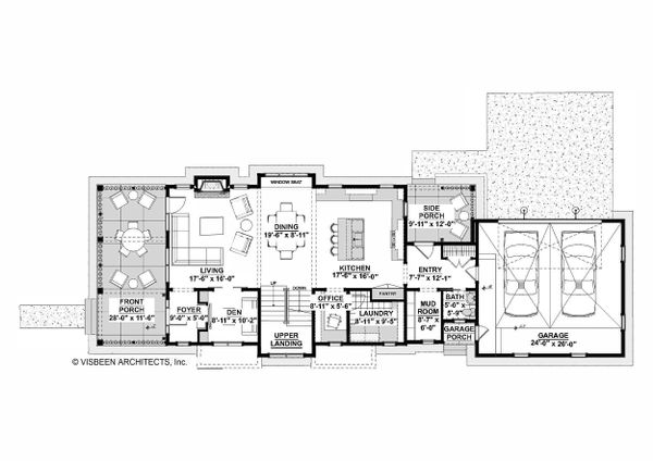 Farmhouse Floor Plan - Main Floor Plan #928-323