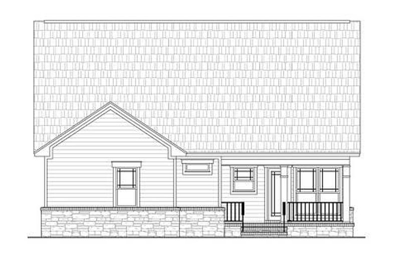 Craftsman Exterior - Rear Elevation Plan #21-261 - Houseplans.com