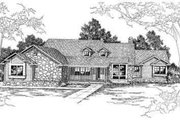 Ranch Style House Plan - 4 Beds 3.5 Baths 3102 Sq/Ft Plan #124-206 Exterior - Other Elevation
