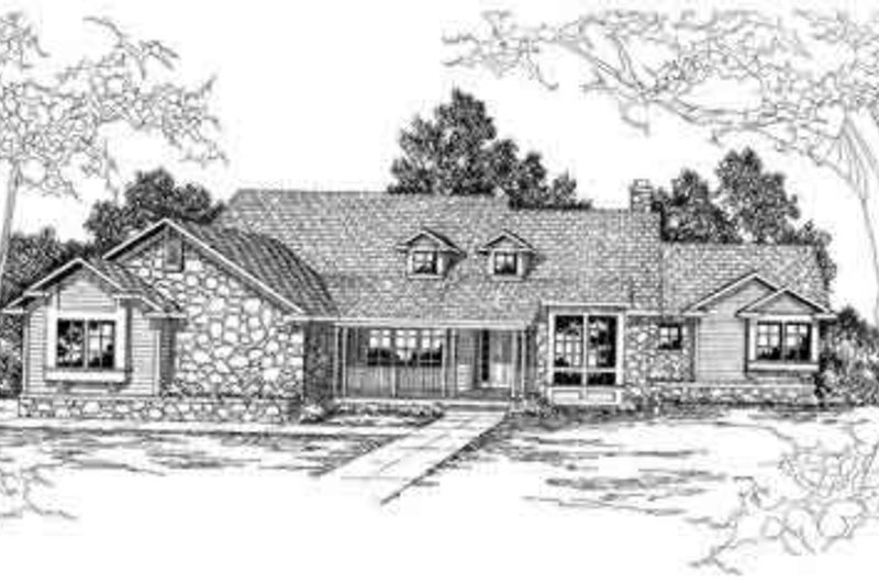 Ranch Exterior - Other Elevation Plan #124-206 - Houseplans.com