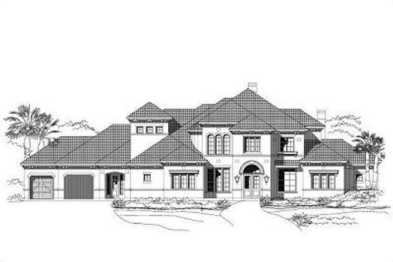 European Exterior - Front Elevation Plan #411-451