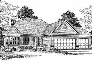 Traditional Exterior - Front Elevation Plan #70-216