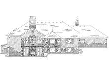 House Plan Design - European Exterior - Rear Elevation Plan #5-291