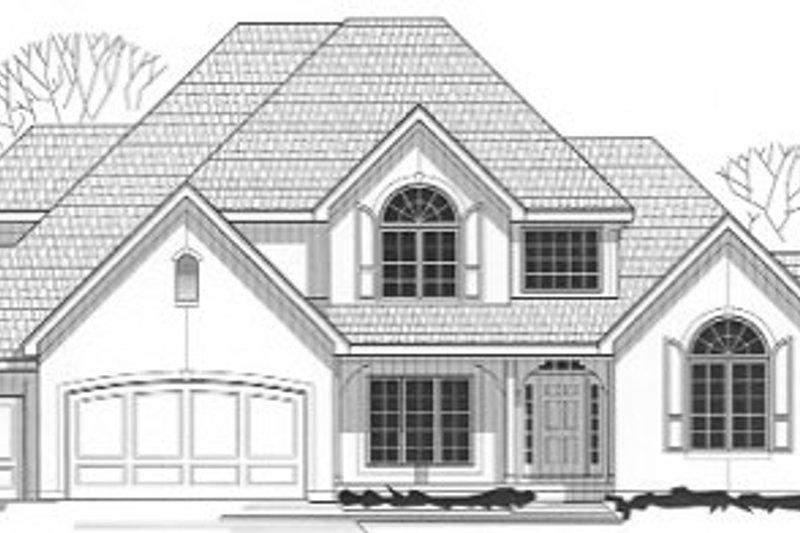 European Style House Plan - 4 Beds 3.5 Baths 3421 Sq/Ft Plan #67-129