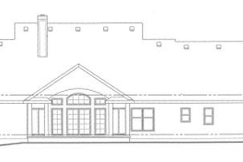 Traditional Exterior - Rear Elevation Plan #20-1030 - Houseplans.com