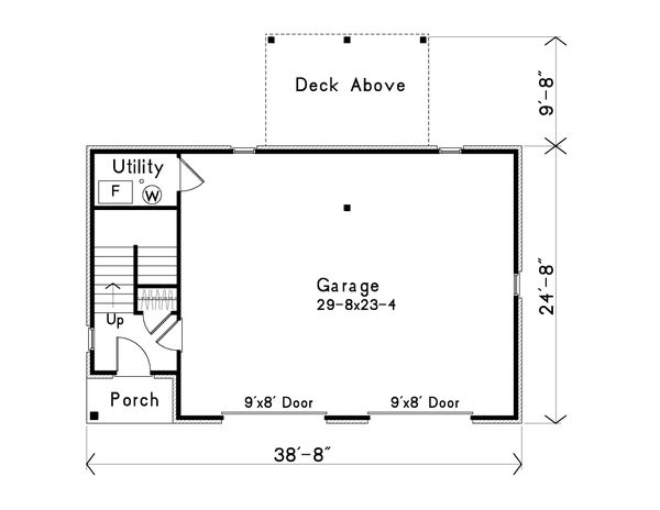 Farmhouse Floor Plan - Main Floor Plan Plan #22-575