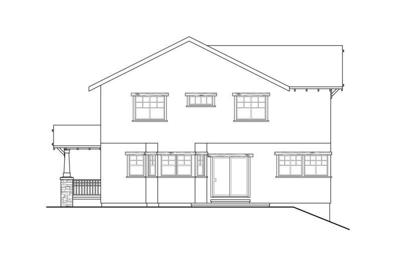 Craftsman Exterior - Rear Elevation Plan #124-549 - Houseplans.com