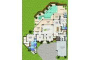 Contemporary Style House Plan - 4 Beds 4.5 Baths 6843 Sq/Ft Plan #548-23 Floor Plan - Main Floor Plan