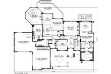 Main Level floor plan  - 7000 square foot Traditional home