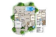 Beach Style House Plan - 4 Beds 3.5 Baths 4436 Sq/Ft Plan #27-498 Floor Plan - Main Floor Plan
