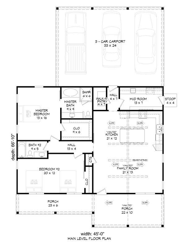 Dream House Plan - Country Floor Plan - Main Floor Plan #932-424