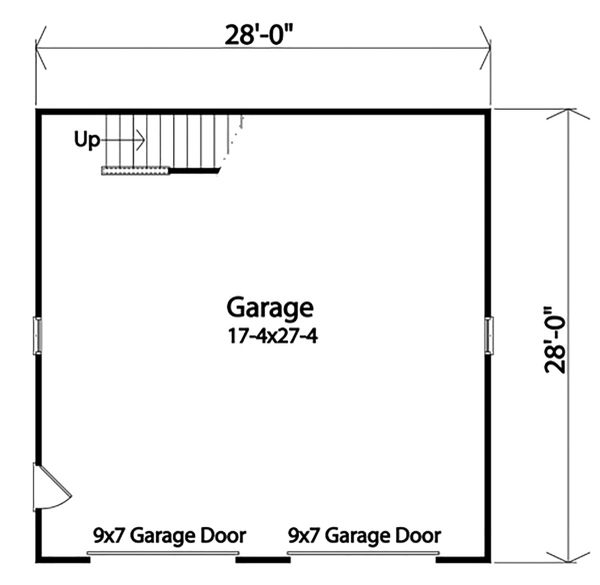 Country Floor Plan - Main Floor Plan Plan #22-577