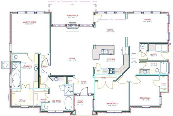 European Floor Plan - Main Floor Plan Plan #408-103