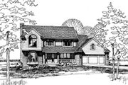 Traditional Style House Plan - 4 Beds 2.5 Baths 2387 Sq/Ft Plan #20-272 Exterior - Front Elevation