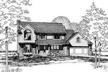 Home Plan - Traditional Exterior - Front Elevation Plan #20-272