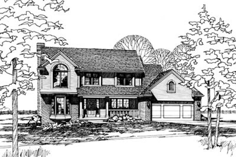 Traditional Exterior - Front Elevation Plan #20-272