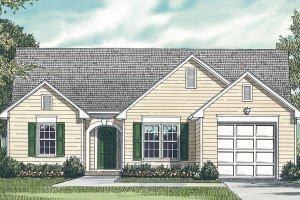 Traditional Exterior - Front Elevation Plan #453-61