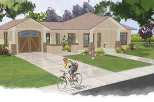 Ranch Exterior - Front Elevation Plan #515-20