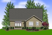 Craftsman Style House Plan - 4 Beds 2.5 Baths 1866 Sq/Ft Plan #48-609 Exterior - Rear Elevation