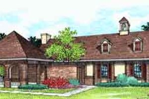 Southern Exterior - Front Elevation Plan #45-227