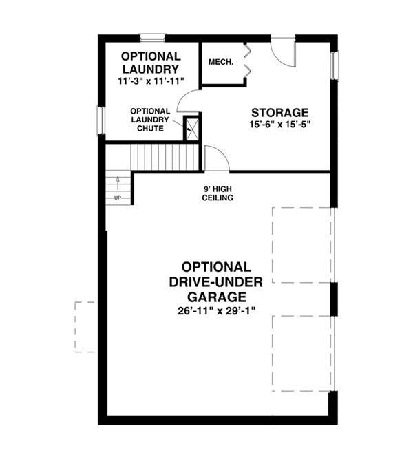 Cottage Floor Plan - Lower Floor Plan #56-625