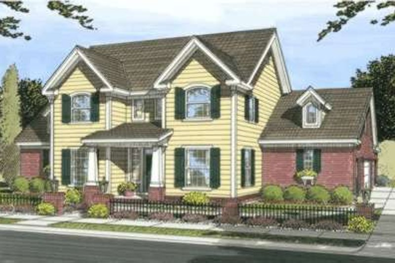Craftsman Style House Plan - 3 Beds 3 Baths 2334 Sq/Ft Plan #20-1829 Exterior - Front Elevation