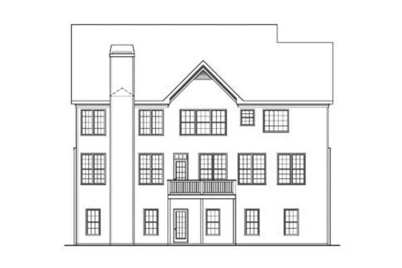 Craftsman Exterior - Rear Elevation Plan #419-194 - Houseplans.com