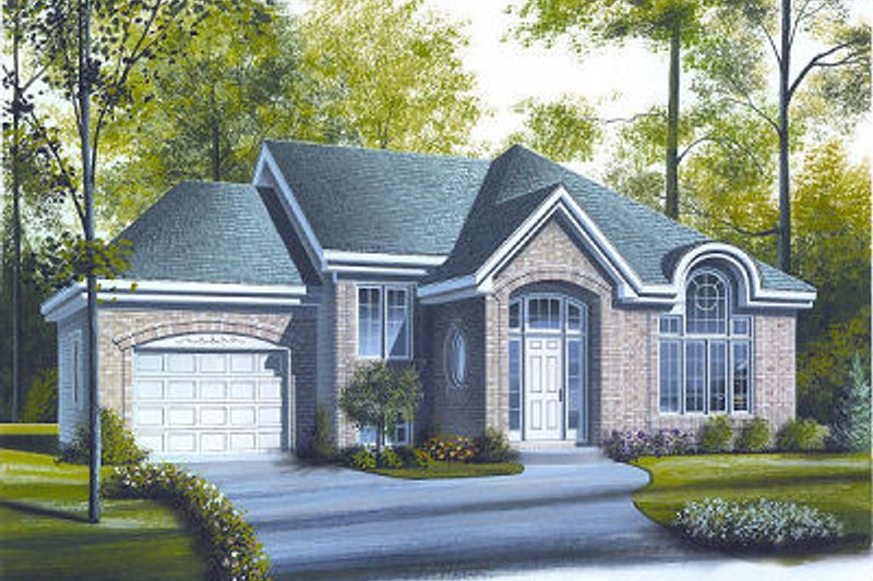Exterior - Front Elevation Plan #23-710 - Houseplans.com