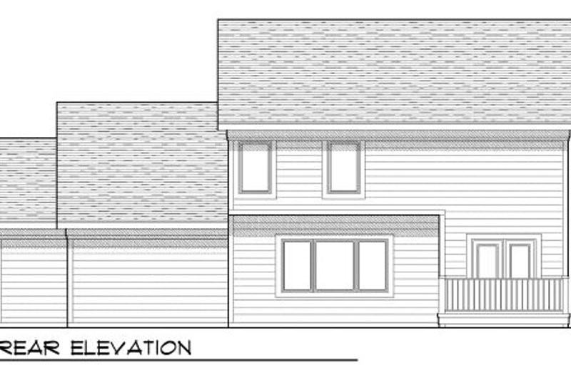 Traditional Exterior - Rear Elevation Plan #70-950 - Houseplans.com