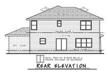 House Plan Design - Craftsman Exterior - Rear Elevation Plan #20-2453