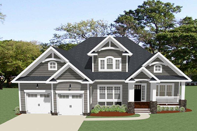 Craftsman Exterior - Front Elevation Plan #898-49
